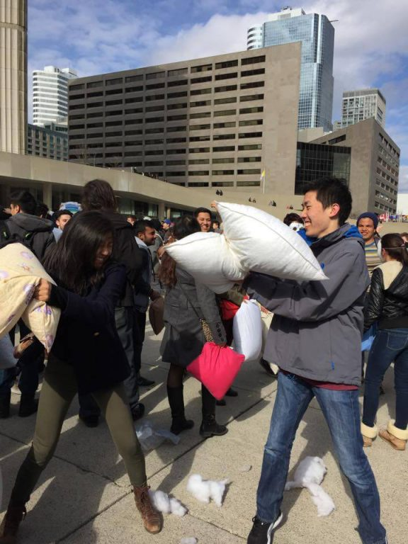 Pillow Fight Toronto 2015