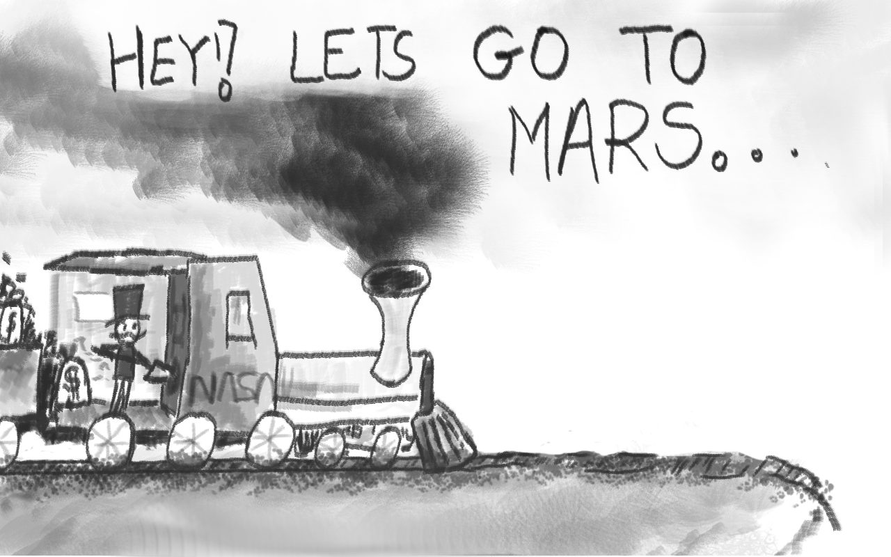 Op-Ed: Moon Over, Mars