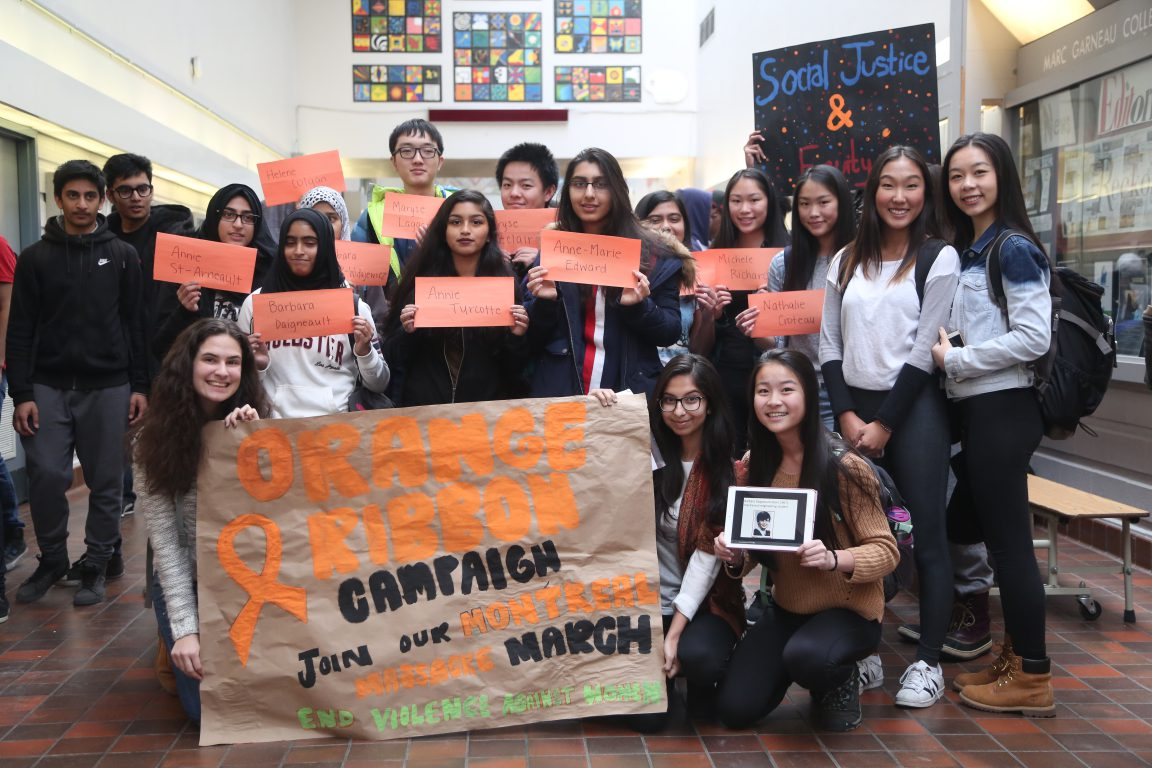 Orange Ribbons to End Gender-Based Violence